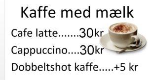 Kaffe med mælk